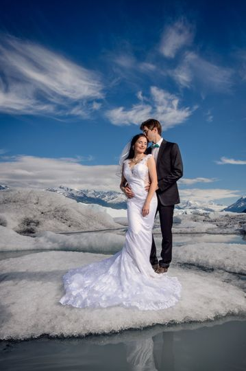Knik Glacier wedding