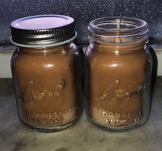 Mason jar votive candles