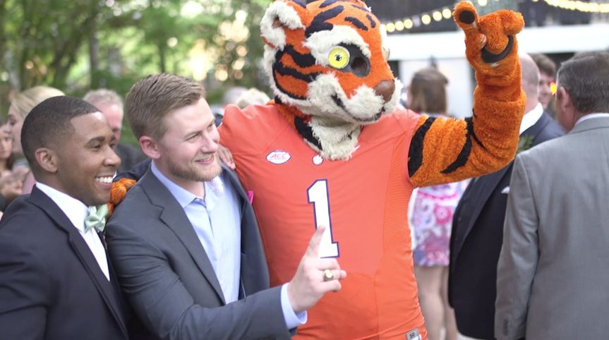 Reception with Clemson Tigers