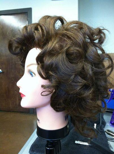 Pin Curls + Volume