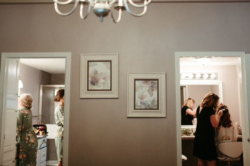 Bridal suite with makeup room