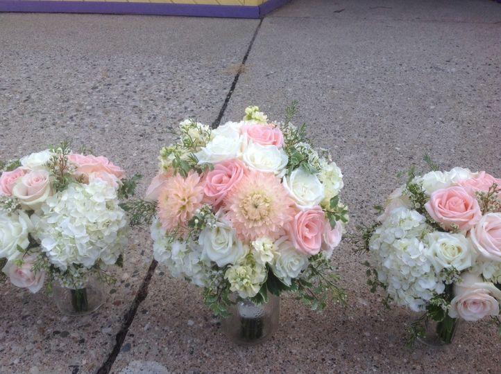 Soft toned wedding bouquets