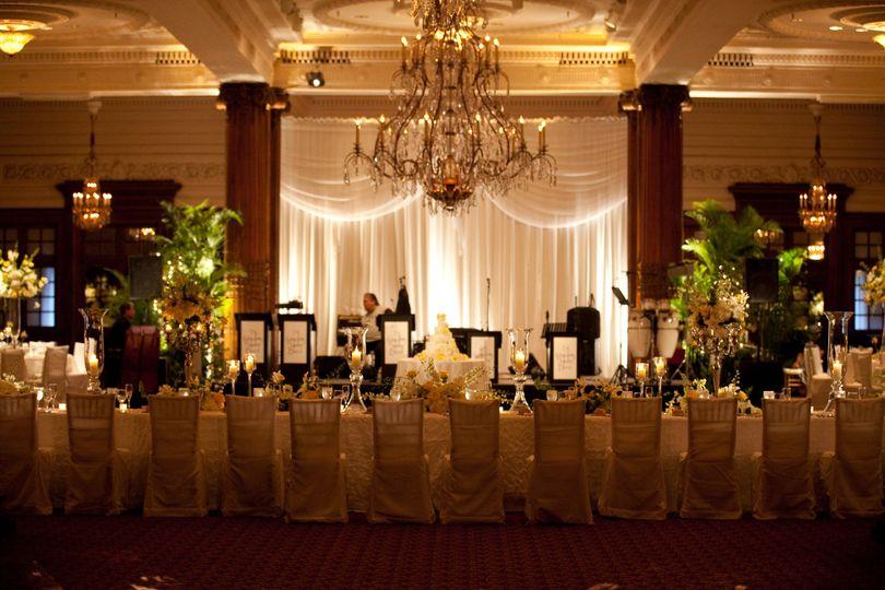ctr wedding long head table