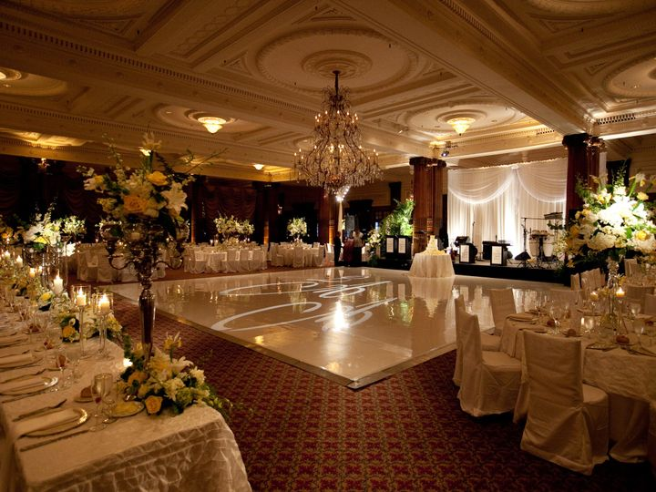 Tmx 1424811070152 Ctr Wedding White Dance Floor With Bandstand Drapi Philadelphia, PA wedding venue