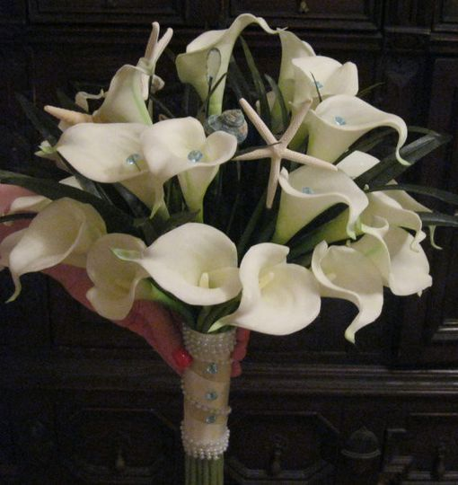 Seaside Light pink calla collection, 12 real touch light pink calla lilies, bear grass, white...