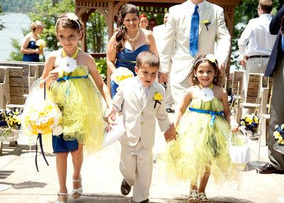 Our Beautiful Flower Girls & Jr Groomsmen, June Lakeside Pennsylvania Wedding, Custom Flower Girl's...