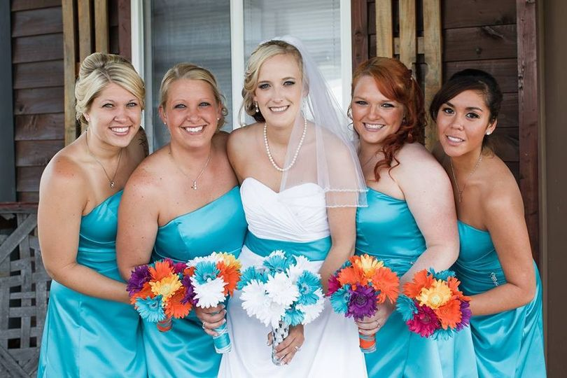 bride angie f bridesmaids