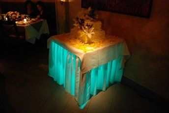 Uplighting under the cake table