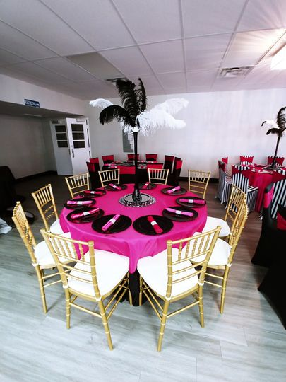 Reception with chiavari chairs
