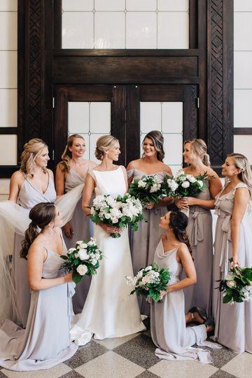 Large bridal party makeup hair