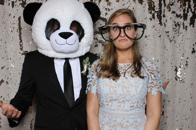Panda in the photo booth