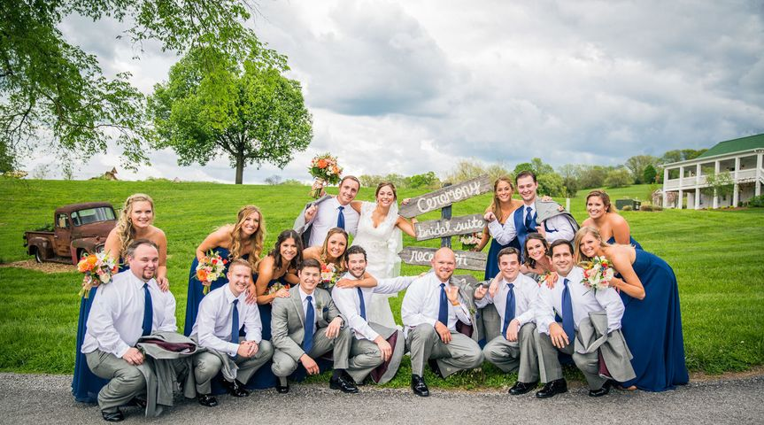 I work hard to make the bridal party shots fun to take and to look at and I want them looking...