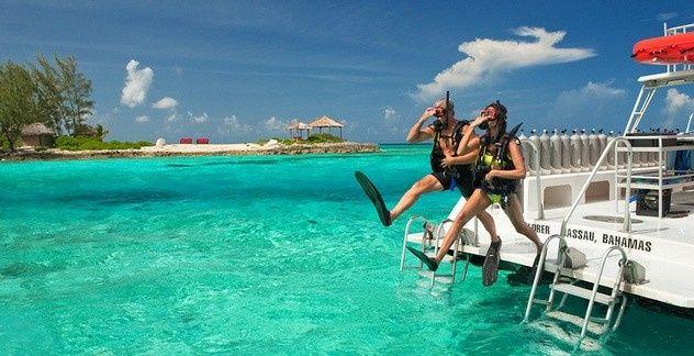 sandals dive boat
