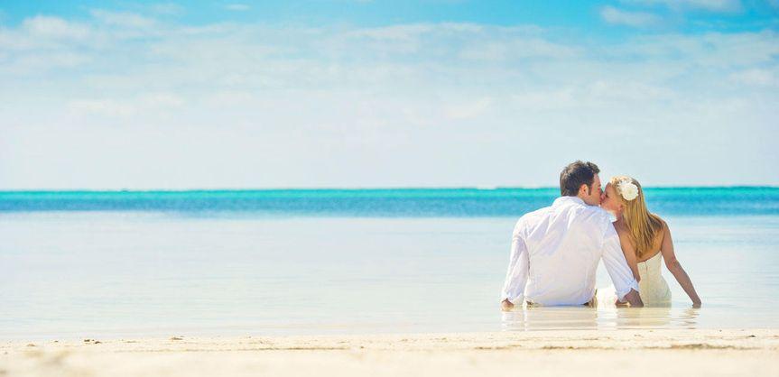 couple on las terrazas resort s private beachinter