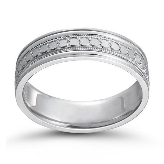 Silver thick wedding ring