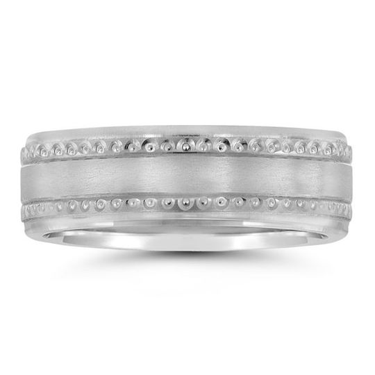 Silver plain wedding ring