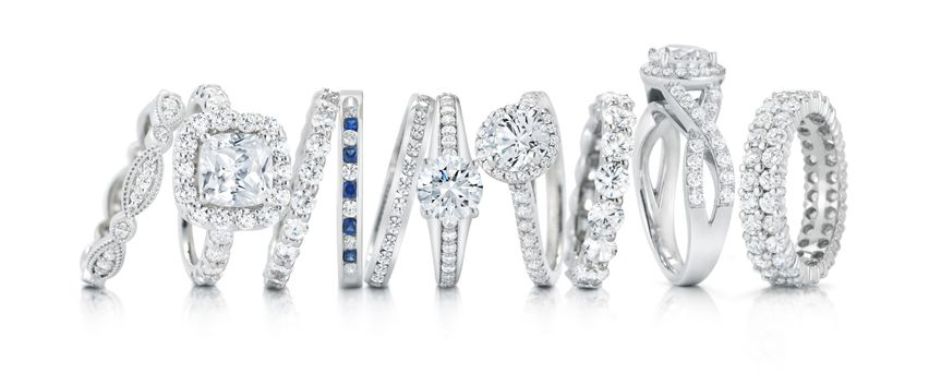 Sample engagement rings