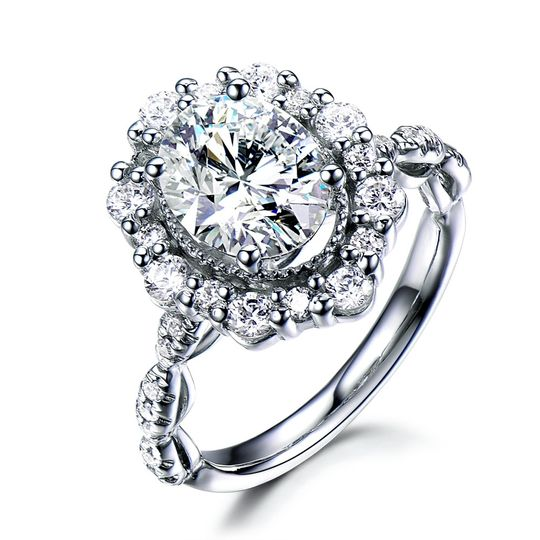Cz white glod plated ring