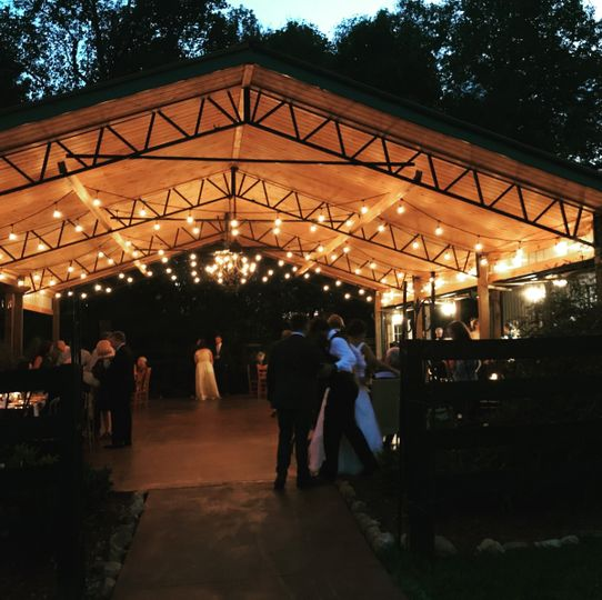Hanging reception tent lights