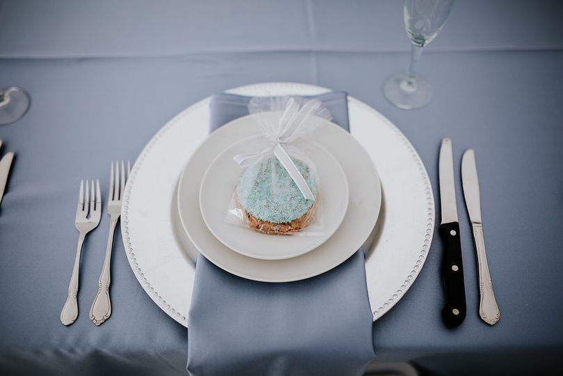 Blue table cloths