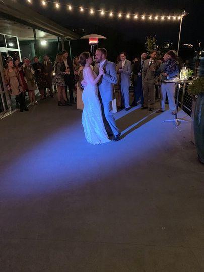 Bride and groom on the dance floor