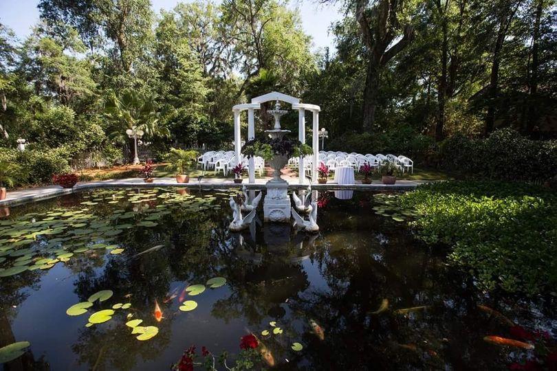 Poolside Ceremony Area