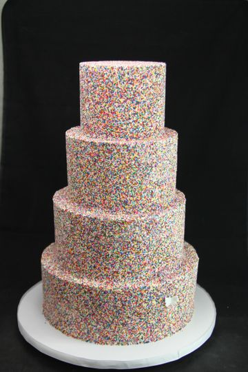 Sugary sweets cake