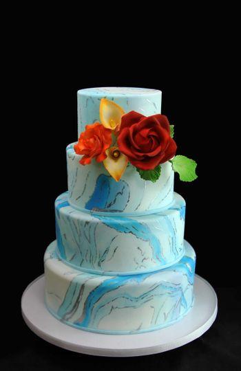 Bright blue cake