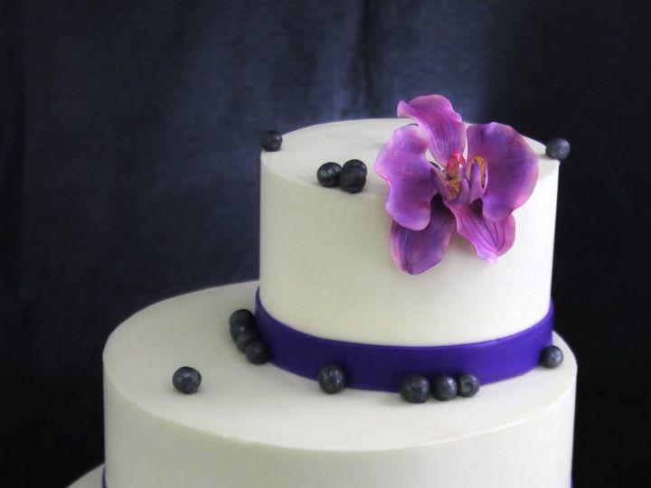 Tmx 1349293939888 PurpleHandmadeOrchidwithBlackPearls Long Island City, New York wedding cake