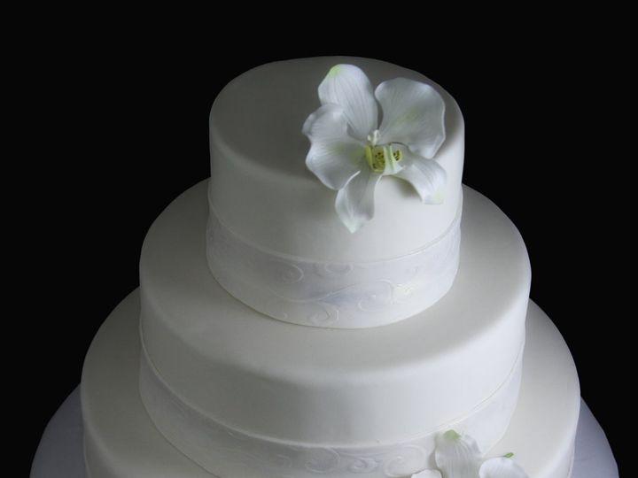 Tmx 1354812579203 BandWithOrchidsWedding Long Island City, New York wedding cake