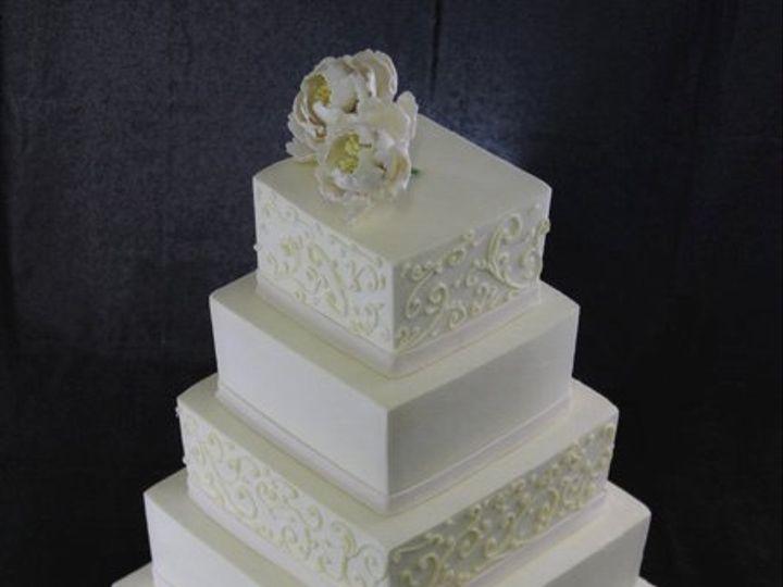 Tmx 1357852990221 5tierScrollWeddingCakewithPeonies Long Island City, New York wedding cake