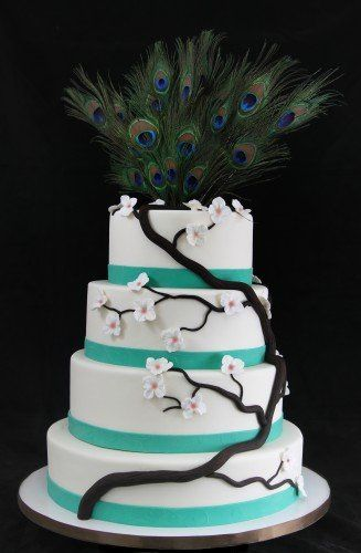 Tmx 1357853071731 PeacockWedding Long Island City, New York wedding cake
