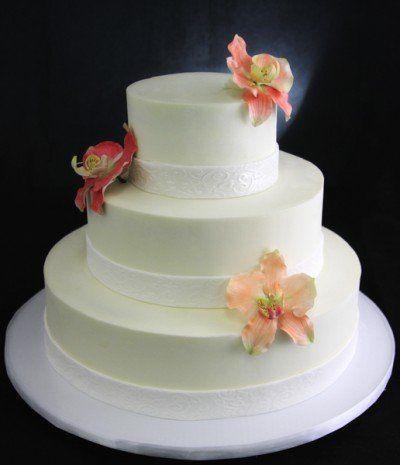 Tmx 1357853133495 PeachSalmonRedOrchidWedding Long Island City, New York wedding cake