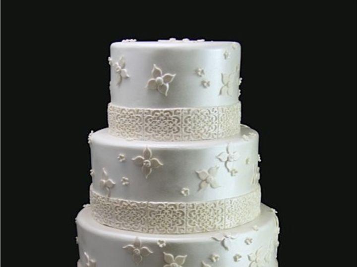 Tmx 1420744379632 Fanciful Flowers Wedding Cake Long Island City, New York wedding cake