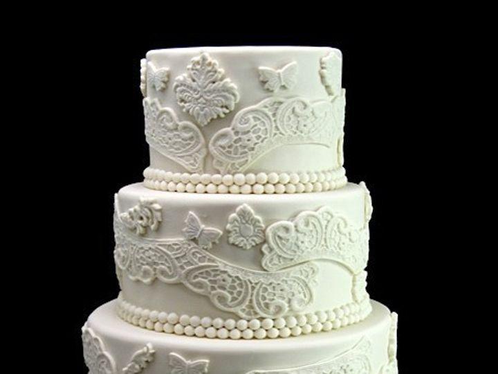 Tmx 1420744388971 Paisley Lace Wedding Cake Long Island City, New York wedding cake