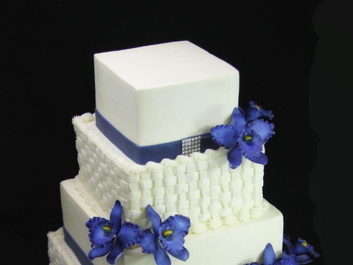 Tmx 1420744749345 Basket Weave With Orchids Wedding Cake  Long Island City, New York wedding cake