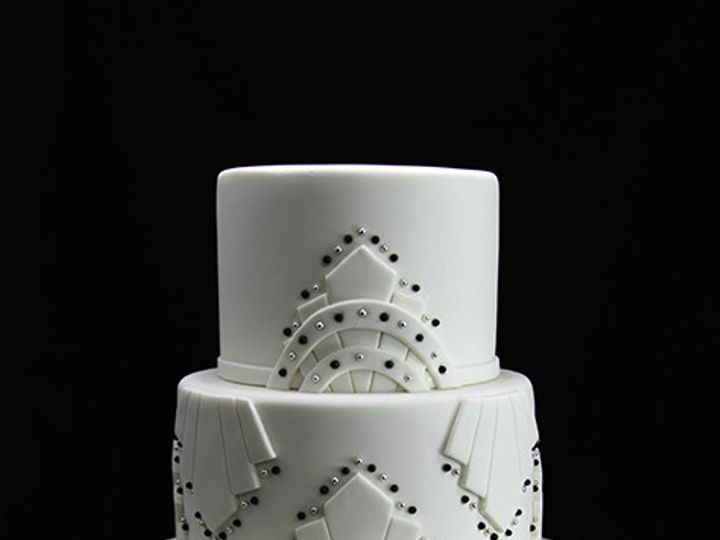Tmx 1433364549491 Art Deco Black  White Wedding Cake Long Island City, New York wedding cake