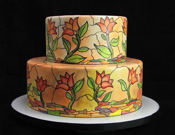 Tmx 1433364560032 Stained Glass Wedding Cake Long Island City, New York wedding cake