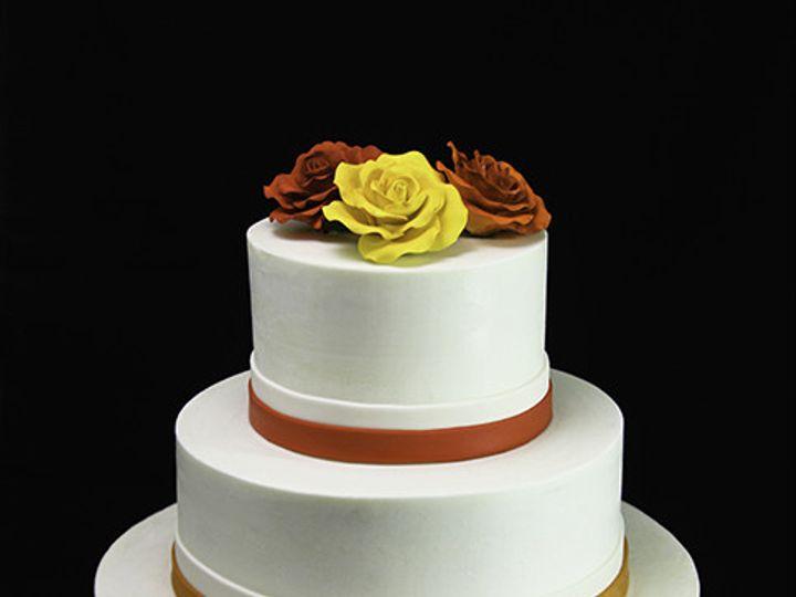 Tmx 1433365193961 Colorful Trio Of Roses Wedding Cake Long Island City, New York wedding cake