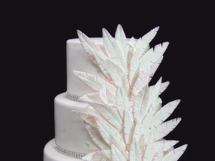 Tmx 1433365212996 Feather Wedding Cake Long Island City, New York wedding cake