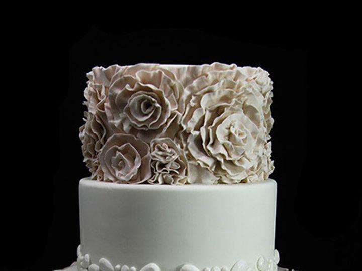 Tmx 1436217882615 Fondant Rosettes Wedding Cake Long Island City, New York wedding cake