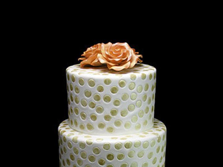 Tmx 1440614123238 Gold Dotted Wedding Cake Long Island City, New York wedding cake
