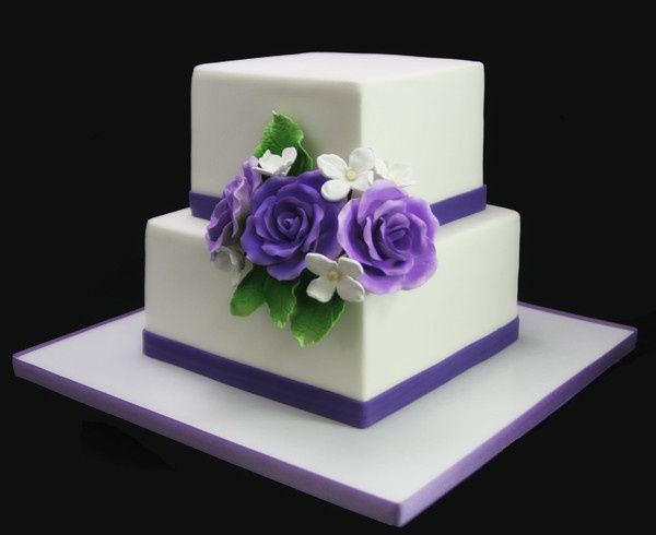 Tmx 1449519883918 2tier Square Wedding Cakewith Rose Bouquet  Long Island City, New York wedding cake