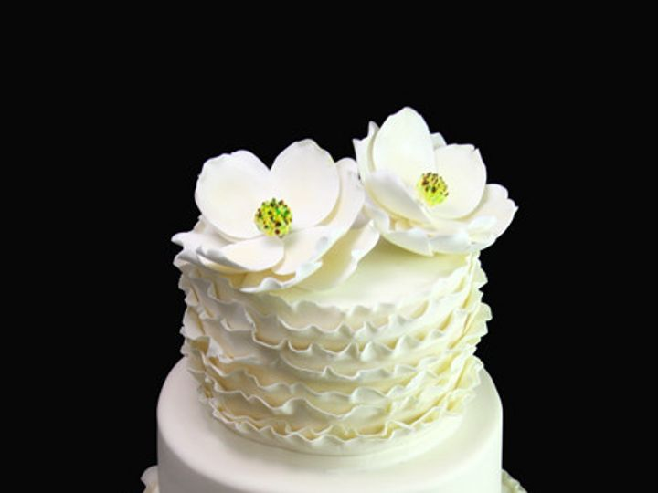 Tmx 1449520159298 Ruffle  Magnolia Wedding Cake Long Island City, New York wedding cake