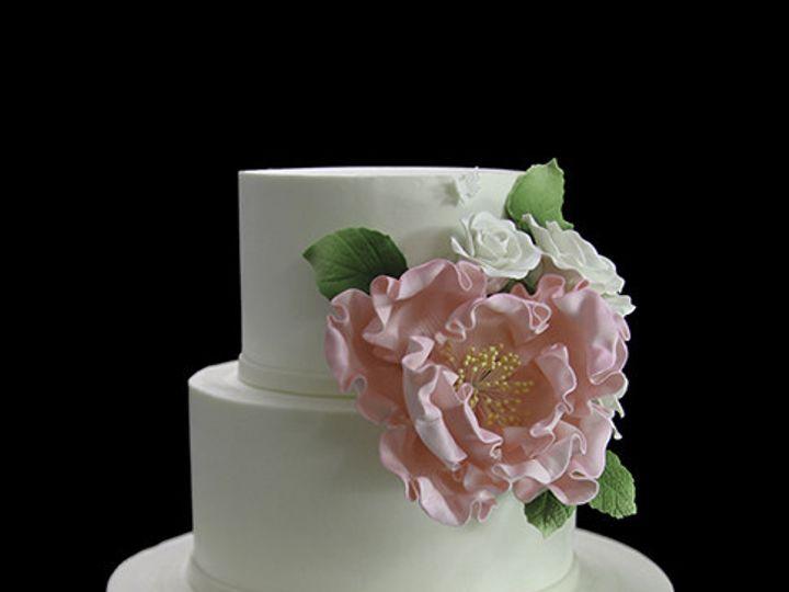 Tmx 1449520454499 Pink Peony Wedding Cake Long Island City, New York wedding cake