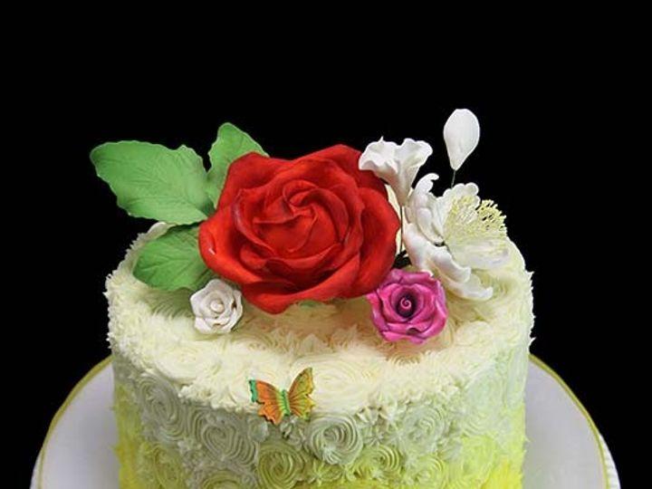 Tmx 1449520499457 Rosettes With Rose Cake Long Island City, New York wedding cake