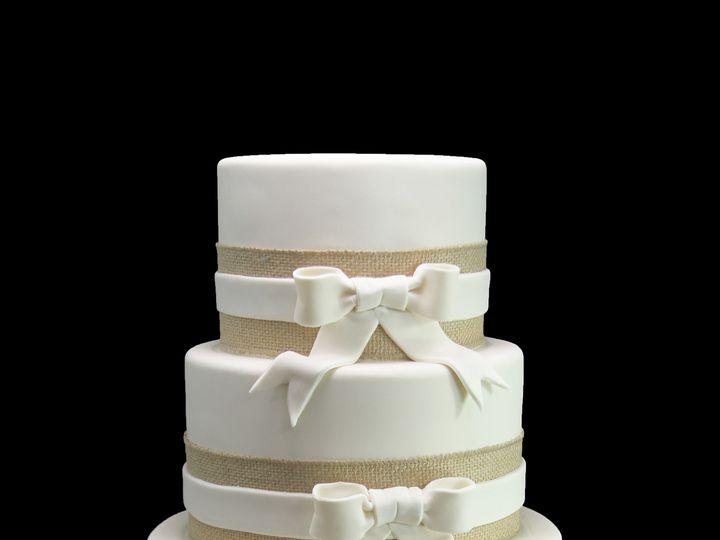 Tmx 1459533729590 Burlap Ribbon With Side Bows Wedding Cake Long Island City, New York wedding cake