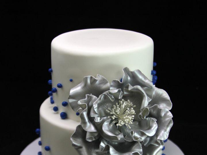 Tmx 1459534469210 Silver Peony Cake Long Island City, New York wedding cake