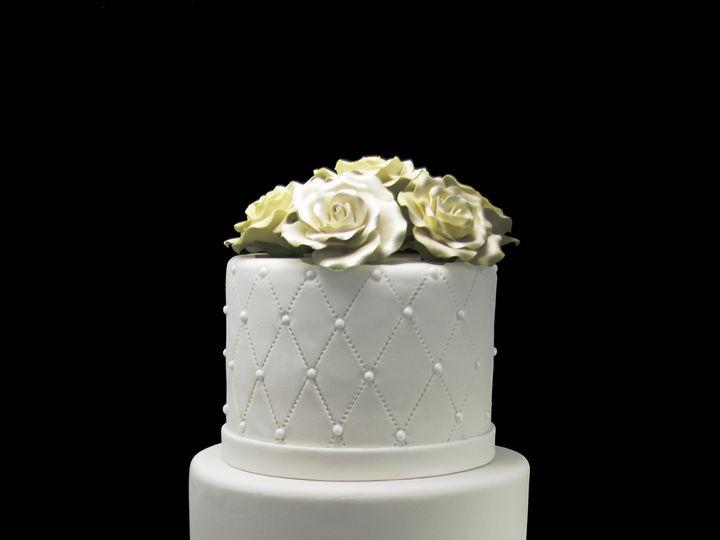 Tmx 1466009440042 Elegant Quilting With Dragees  Roses Wedding Cake Long Island City, New York wedding cake