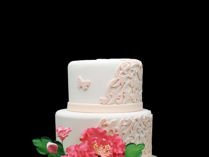 Tmx 1466009891586 Peony Wedding Cake Long Island City, New York wedding cake